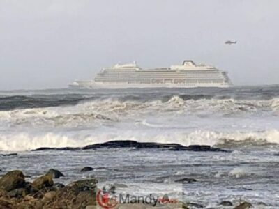 d86069159e9ec23af8f7182fde9a6249 - 1,300 Passenger Trapped In Norway Cruise Ship Rescued (Video, Pictures)