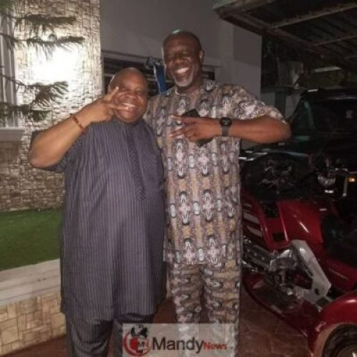 dino-vs-adeleke Dancing Vs Singing Senators: Ademola Adeleke Visits Dino Melaye (Photos)