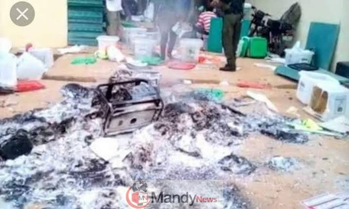 images-1-6 Thugs Set Electoral Supplies Ablaze In Benue