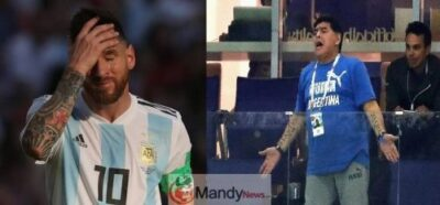 lionel Messi and maradona crying - Maradona Blasts Lionel Messi And Argentina Team After 3 – 1 Defeat By Venezuela
