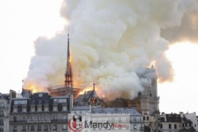 1555350651 000 1FO1N4 - Fire Breaks Out At Notre-Dame Cathedral In Paris (Photos)