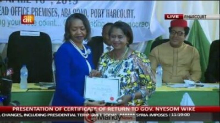57222230_2187705287983377_719382875773861888_n INEC Presents Certificates Of Return To Wike, Lawmakers In Rivers.