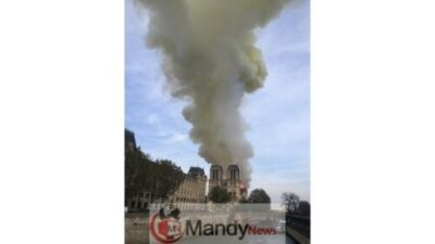 AP19105635397124 1555350915956 82531771 ver1.0 640 360 - Fire Breaks Out At Notre-Dame Cathedral In Paris (Photos)