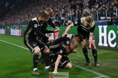 Ajax players 1024x682 - Juventus vs Ajax 1-2 Goals & All Highlights (Video)
