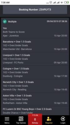 Sure Bet9ja Booking Code For April 9/10, 2019