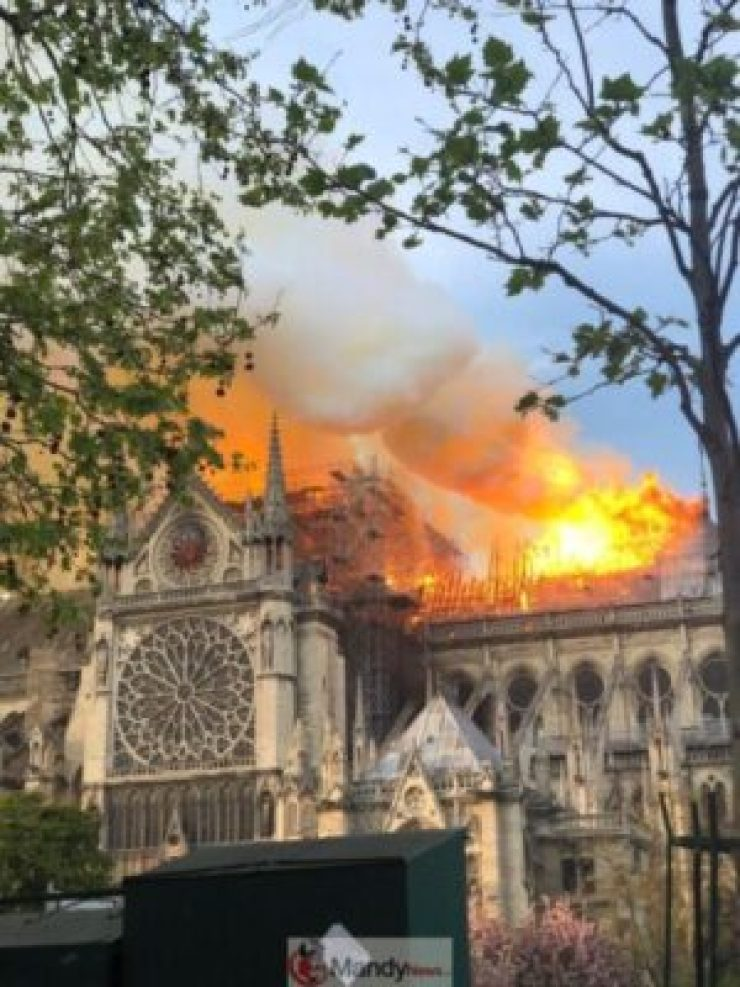 D4Nq51IWAAABz9s-768x1024 Fire Breaks Out At Notre-Dame Cathedral In Paris (Photos)
