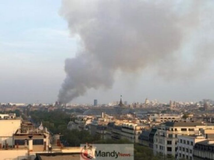 D4Nr4Y3WAAEHgIX Fire Breaks Out At Notre-Dame Cathedral In Paris (Photos)