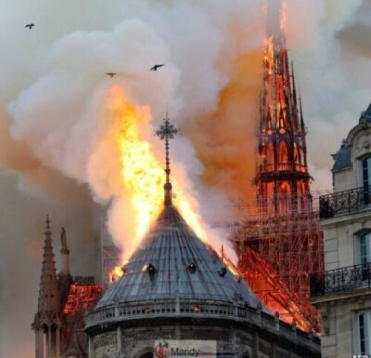 D4NrvJlX4AEwZ18-1024x986 Fire Breaks Out At Notre-Dame Cathedral In Paris (Photos)