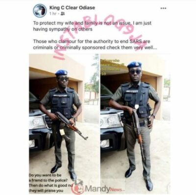 If You Want SARS To End You Are A Criminal Policeman - 'If You Want SARS To End You Are A Criminal' - Policeman