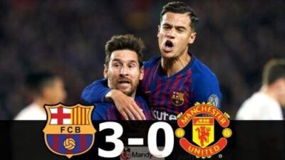 Lionel Messi and Coutinho 1024x576 - Barcelona vs Manchester United 3-0 - All Goals and Highlights (Video)