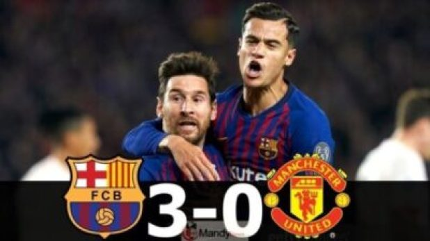 Lionel-Messi-and-Coutinho-1024x576 Barcelona vs Manchester United 3-0 - All Goals and Highlights (Video)