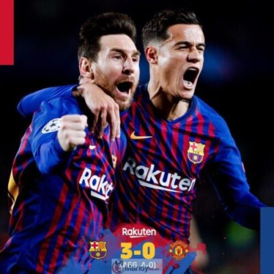 Messi and Coutinho 1024x1024 - Barcelona vs Manchester United 3-0 - All Goals and Highlights (Video)
