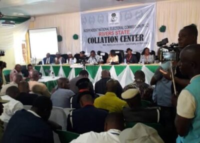 RIVERS INEC 2 1 - INEC Adjourns Collation Of Rivers Governorship Election Outcomes Till Wednesday