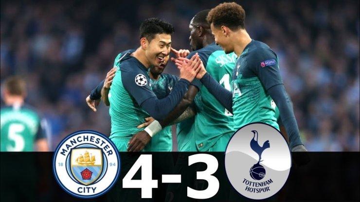 Manchester Metropolis vs Tottenham 4-Three Targets & Highlights (Video)