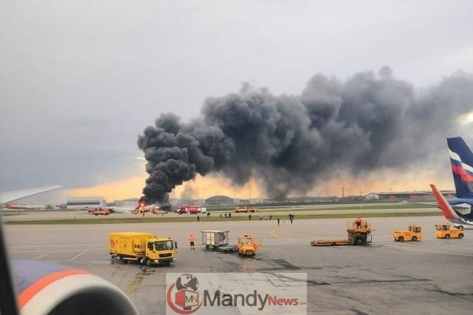 54114822_2119750901407110_9162169384246968320_n-1 41 Killed After Russian Airplane Catches Fire (Photos,Video)