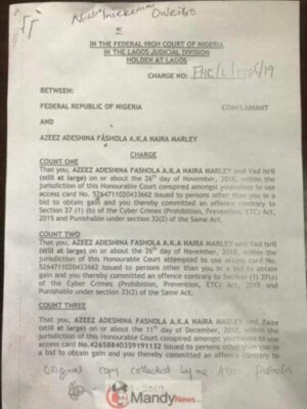 Azeez-0 Naira Marley Signs His Charge Sheet Ahead Of His Arraignment On Monday (Pics)