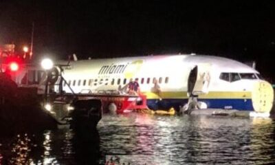 The Boeeing 737 Carrying 143 People Fell Into The Shallow River In Florida