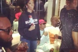 Wizkid and Tiwa Savage spotted at Patorankings listening party