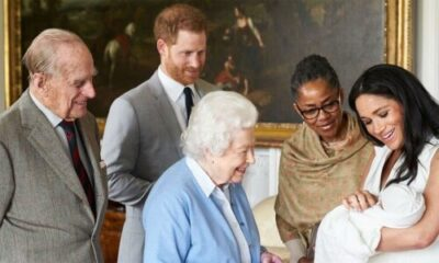 queen introduced to archie t - Prince Harry And Meghan Announce The Title of their New Child Boy