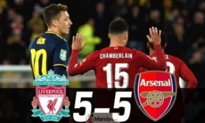 Liverpool vs Arsenal - Liverpool vs Arsenal 5-5 ( 5-4 ) - All Goals And Highlights (Video)
