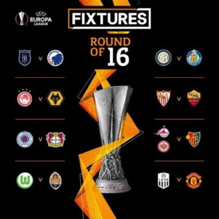 2019/20 UEFA Europa League Round of 16 draw