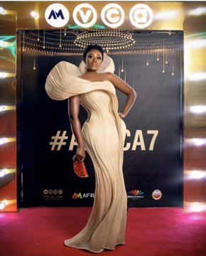 Nana Akua Addo Caused A Scene With Her Dress To AMVCA 2020 (Photos)