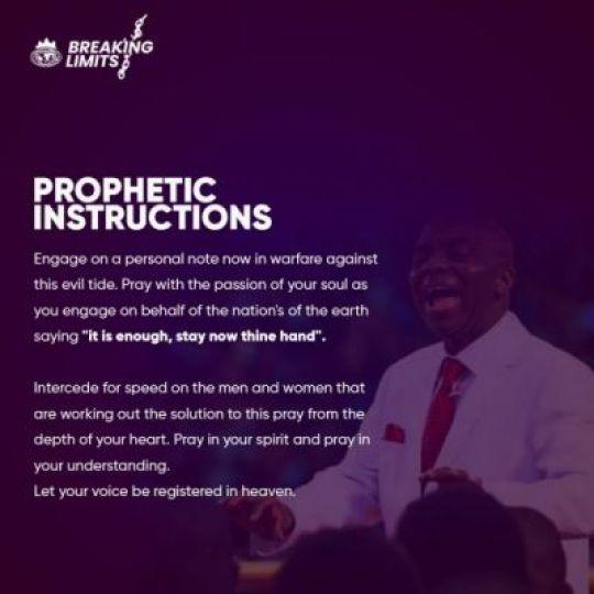 Bishop Oyedepo Prophetic Declarations On Coronavirus