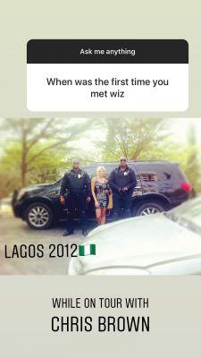 Jada Pollock in Lagos during Chris Brown concert