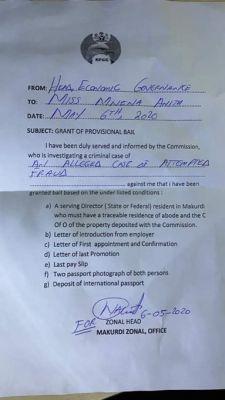 EFCC court notice