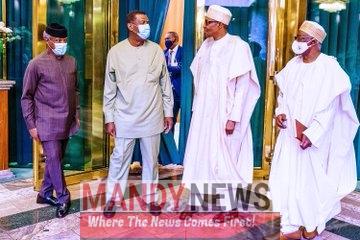 Pastor Adeboye Visits President Buhari In Aso Rock (Photos)