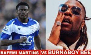 Fight Between Burna Boy and Obafemi Martins