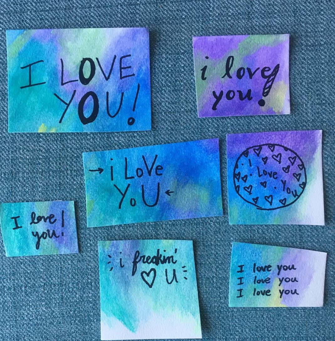 Easy DIY Watercolor for Your Valentine