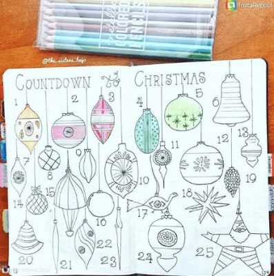 Christmas Bullet Journal Ideas For December Mandy S Diy Care
