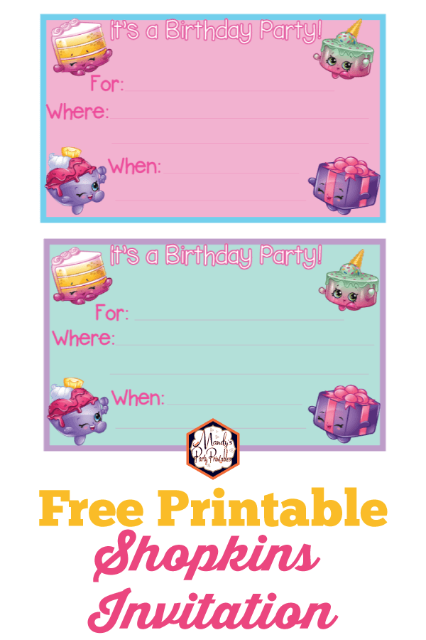 photograph regarding Free Printable Shopkins Invitations known as Shopkins Birthday Occasion Printables