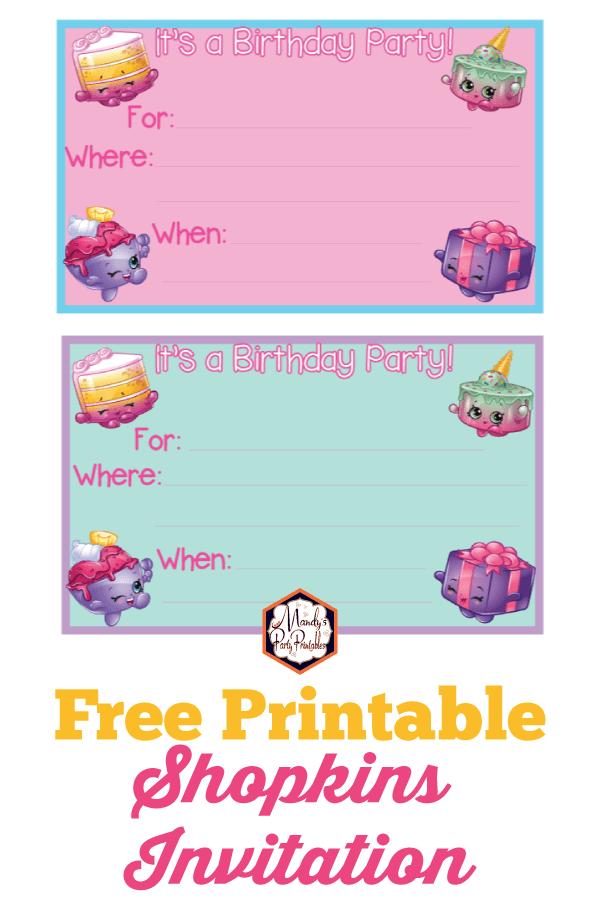 photograph regarding Shopkins Printable Invitations named Shopkins Birthday Occasion Printables