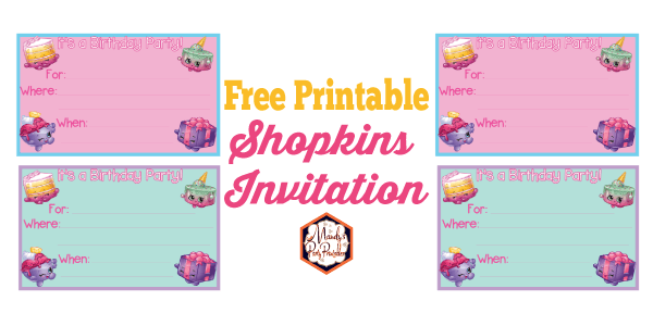 photograph about Shopkins Printable Invitations known as No cost Shopkins Printables Archives