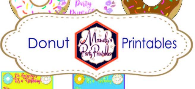 Donut Party Printables via Mandy's Party Printables