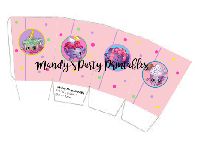 Shopkins Popcorn Box Printable by Mandy's Party Printables | mandyspartyprintables.com