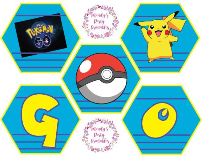 Pokemon Go Birthday Banner | Mandy's Party Printables