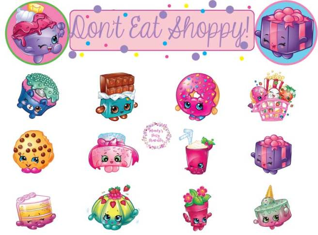 Shopkins Party Game Printable of Don't Eat Pete via Mandy's Party Printables | mandyspartyprintables.com