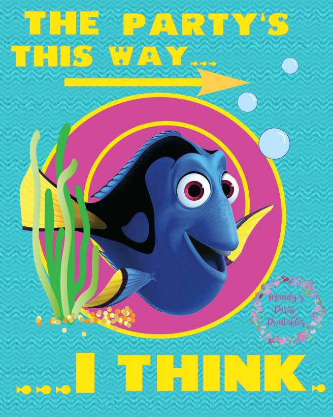 Finding Dory Party Sign