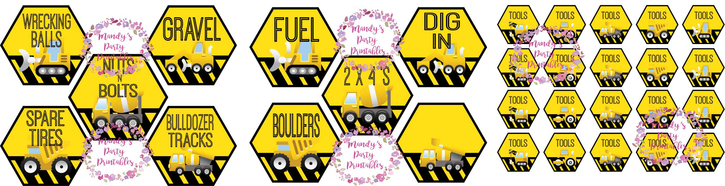 photo about Free Printable Construction Signs named Absolutely free Composition Bash Printables