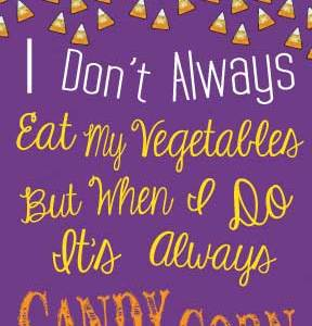 Gold Candy Corn Vegetable Sign via Mandy's Party Printables