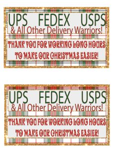 UPS Delivery Thank You Basket Printable Sign via Mandy's Party Printables