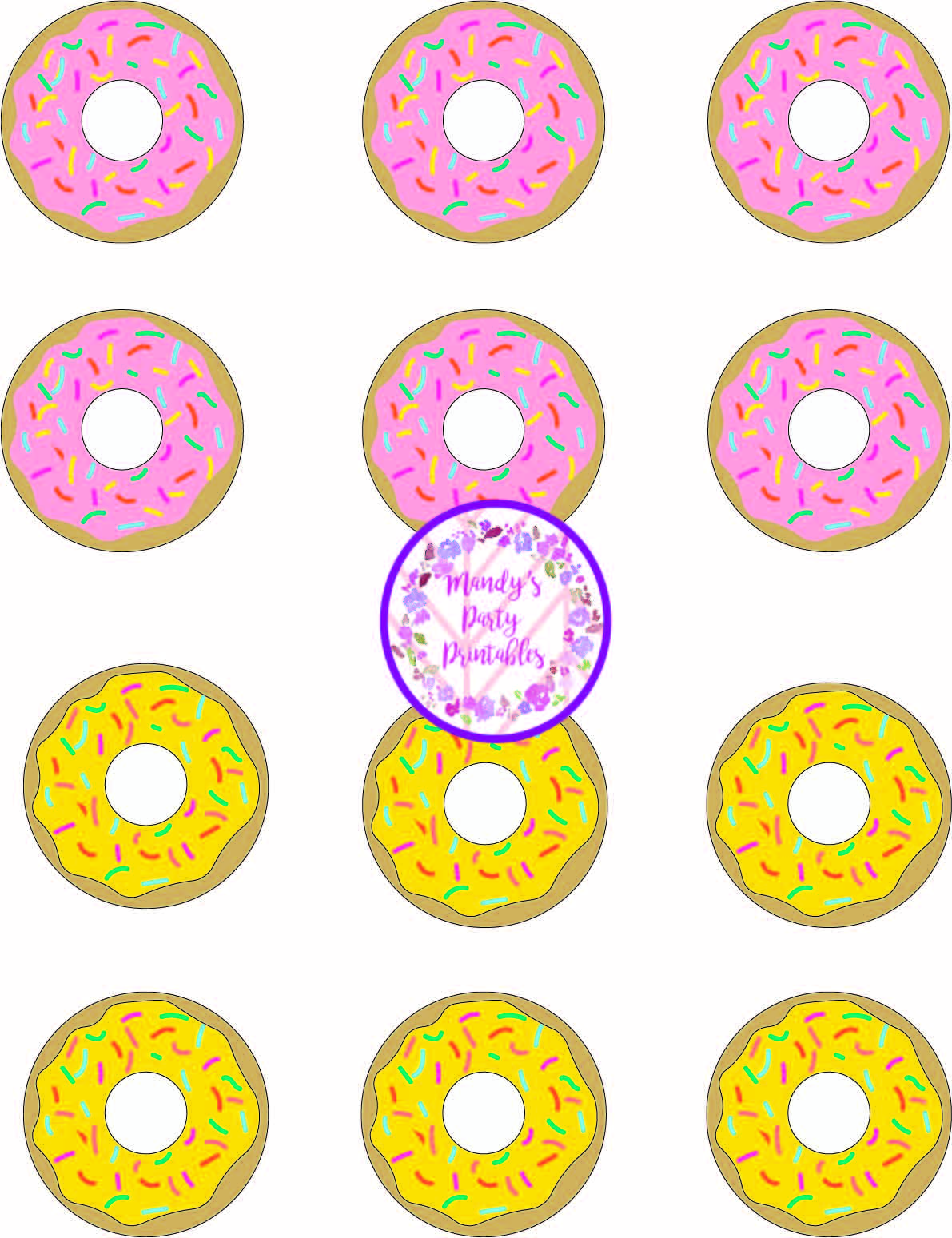 image about Printable Tic Tac Toe identified as Donut Social gathering Activity Tic Tac Toe!