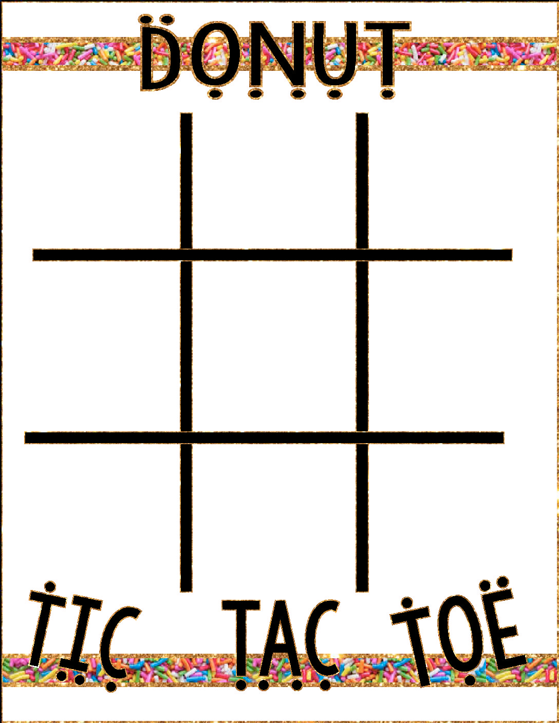 photograph relating to Free Printable Tic Tac Toe Board identify Donut Social gathering Recreation Tic Tac Toe!