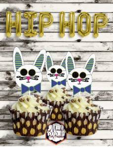 Hipster Easter Cupcake Toppers via Mandy's Party Printables