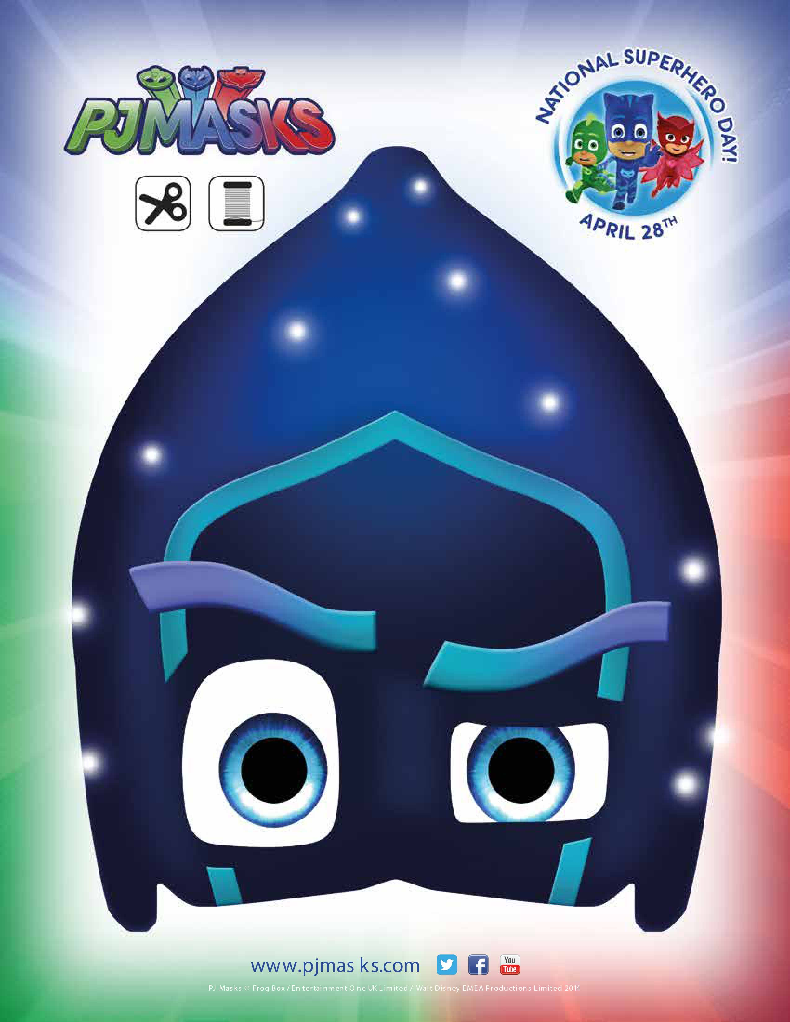 photo regarding Pj Mask Printable Template referred to as PJ Masks Bash Printables for Totally free