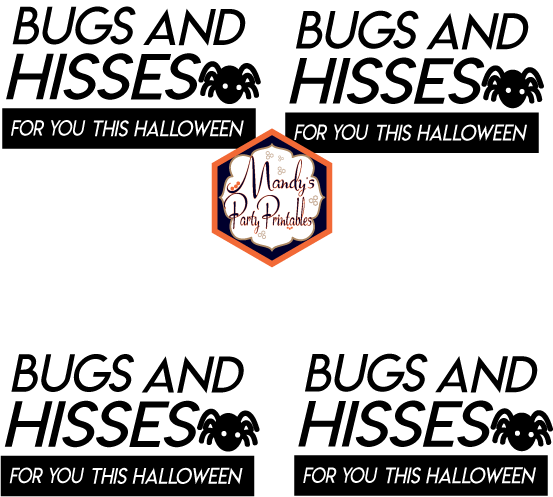 image regarding Bugs and Kisses Free Printable referred to as Free of charge Halloween Treatbag Toppers