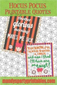 Hocus Pocus Printable Quotes via Mandy's Party Printables